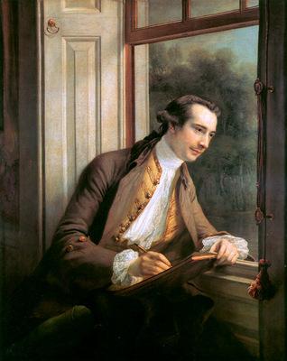 Cotes Francis Portrait of Paul Sandby Sun