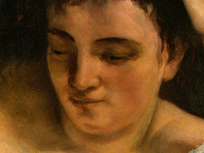 Courbet A Young Woman Reading, detalj 2, 1866 1868, NG Washi
