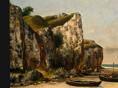 Courbet Beach in Normandy, 1872 1875, Detalj 1, NG Washingto