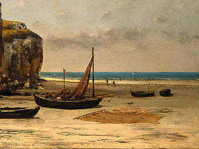 Courbet Beach in Normandy, 1872 1875, Detalj 2, NG Washingto