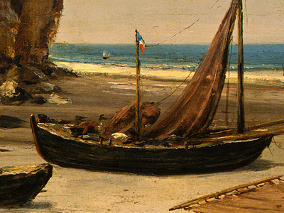 Courbet Beach in Normandy, 1872 1875, Detalj 3, NG Washingto