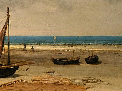 Courbet Beach in Normandy, 1872 1875, Detalj 4, NG Washingto