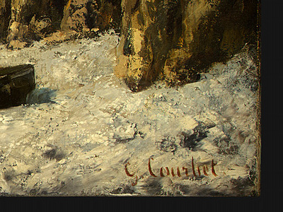 Courbet Boats on a Beach, Etretat, after 1869, Detalj 4, NG