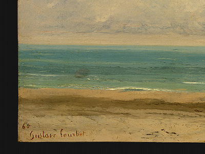 Courbet Calm Sea, 1866, Detalj 1, NG Washington