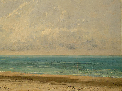 Courbet Calm Sea, 1866, Detalj 2, NG Washington