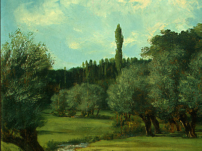 courbet la bretonnerie in the department of indre, 1856, d