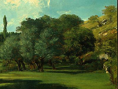 Courbet La Bretonnerie in the Department of Indre, 1856, Det