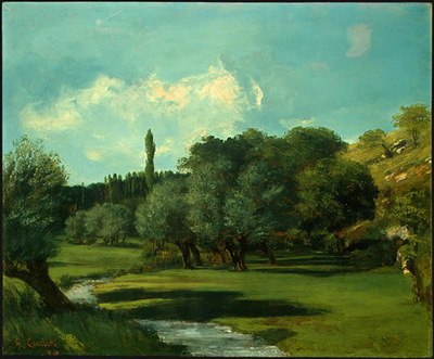 Courbet La Bretonnerie in the Department of Indre, 1856, NG