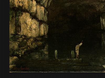 Courbet La Grotte de la Loue, 1864, Detalj 1, NG Washington
