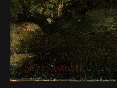 Courbet La Grotte de la Loue, 1864, Detalj 2, NG Washington