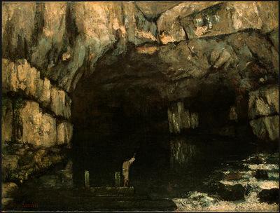 Courbet La Grotte de la Loue, 1864, NG Washington