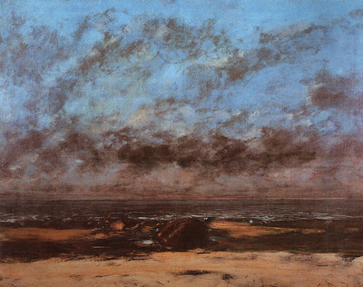 Courbet Low Tide Known as Immensity, 1865, oil on canvas, Ci