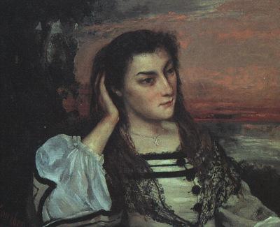 Courbet Portrait of Gabrielle Borreau The Dreamer , 1862, o