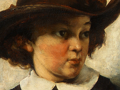 Courbet Portrait of a Young Girl, 1857, Detalj 2, NG Washing