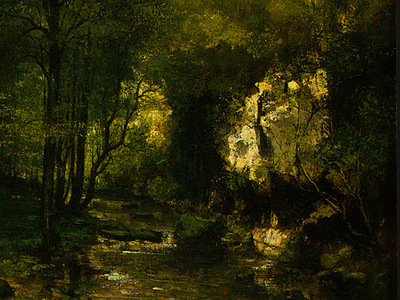 courbet the stream le ruisseau du puits noir vallee de l