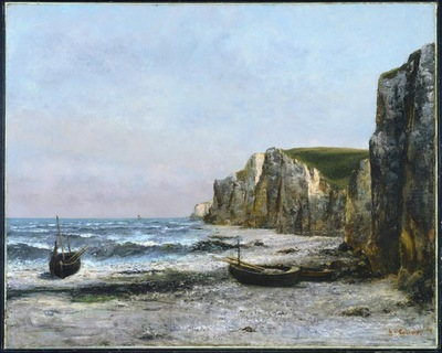 Courbet The cliffs at Etreat, 1866, 90 9 x 113 3 cm, NG of C