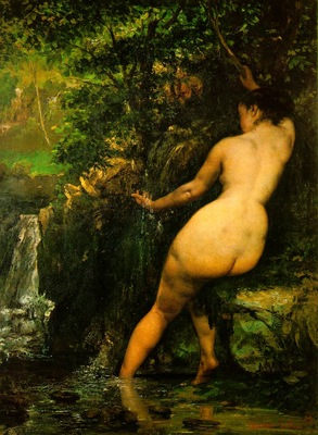 Courbet The source, 1868, 128x97cm, Musee dOrsay, Paris