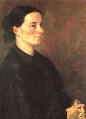 Courbet Zelie Courbet, 1846, oil on canvas, Museum of Art, S