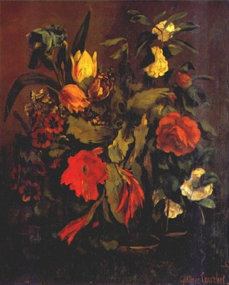 courbet still life of flowers