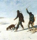 COURBETbracconieri sulla neve