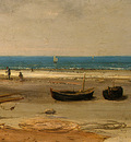 Courbet Beach in Normandy, 1872 1875, Detalj 4, NG Washingto