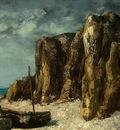 Courbet Boats on a Beach, Etretat, after 1869, Detalj 1, NG