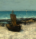 Courbet Boats on a Beach, Etretat, after 1869, Detalj 3, NG