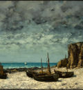Courbet Boats on a Beach, Etretat, after 1869, NG Washington
