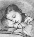 courbet portrait of juliette courbet as a sleeping child,