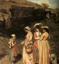 Courbet The Ladies of the Village Giving Alms to a Cowherd i