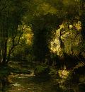 courbet the stream le ruisseau du puits noir vallee de l
