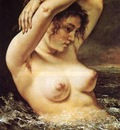 courbet woman in the waves