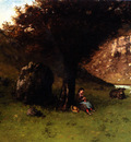 Gustave Courbet La Petite Bergere The Young Shepherdess