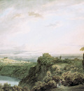 Cozens John Robert The lake of Nemi Sun