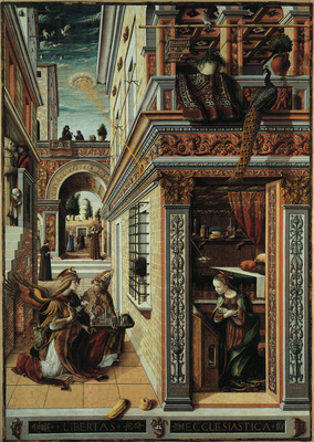 CRIVELLI ANNUNCIATION WITH SAINT EMIDIUS, 1486, NG LONDON
