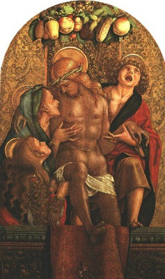 CRIVELLI LAMENTATION OVER THE DEAD CHRIST, MUSEUM OF FINE AR
