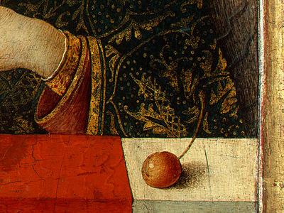 Crivelli Madonna and Child, before 1490, Ng Washington Detal