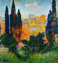 Cross Henri Edmond Cipresses in Cagnes Sun