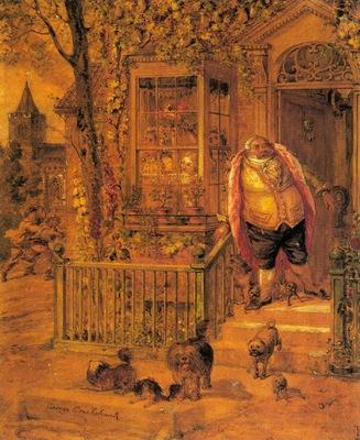 Cruikshank George A Runaway Knock
