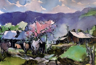George Culley Springtime at the Ranch, De