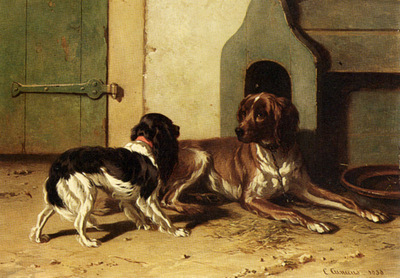 Cunaeus Conradyn A King Charles Spaniel And A Drentse Partridge Dog