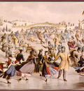 Currier Ives CentralPark Winter TheSkatingPond sj