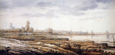 Cuyp Albert View on Dordrecht Sun