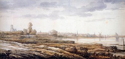 Cuyp Albert View on Dordrecht Sun