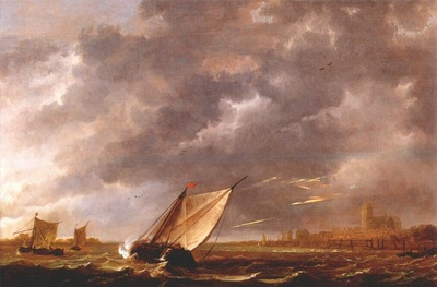 cuyp the maas at dordrecht in a storm c1648