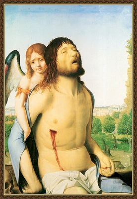 cr Antonello da Messina The Dead Christ Supported By An Ange