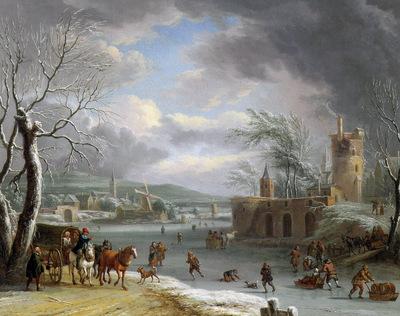 Dalens Dirck III Winter landscape Sun