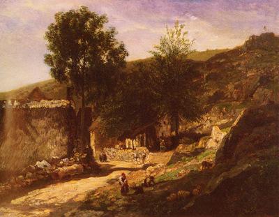 Daubigny Charles Francois Entree De Village