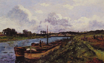 View of the River Oise Auvers Sur Oise