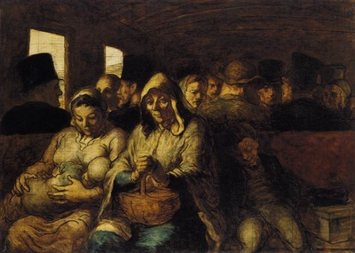 DAUMIER Honore The Third class Carriage
